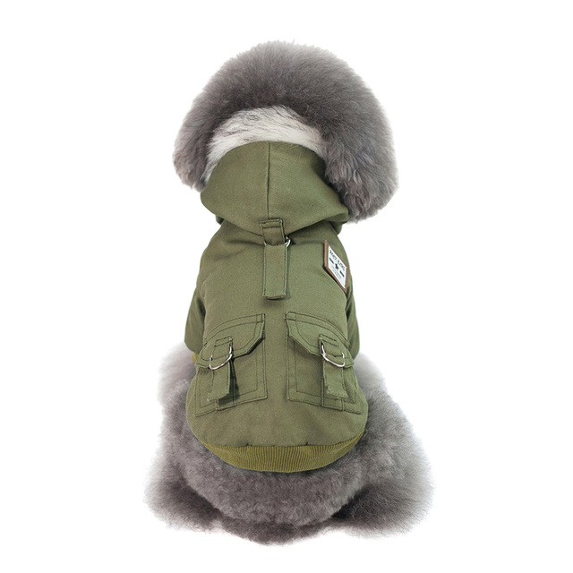 Hooded Pet Dog Clothes Autumn Winter Soft Warm Coat Pet Hoodie Supplies TUE88 3