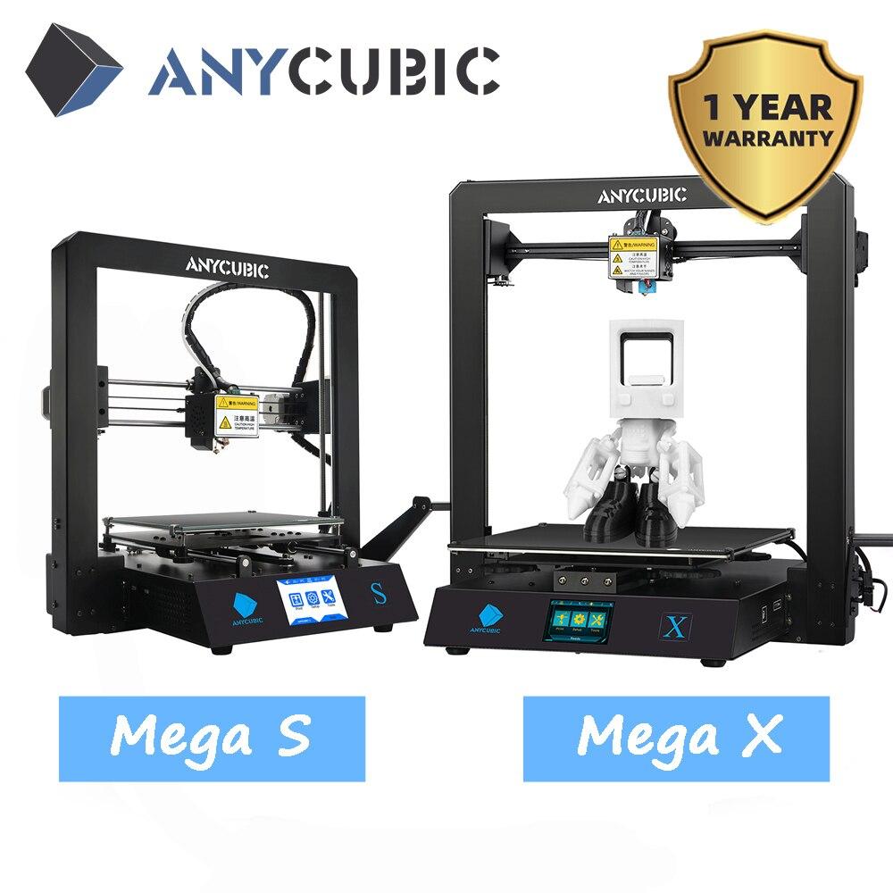 ANYCUBIC Мега S/ X/ноль/Pro 3d принтер Полный металлический каркас размера плюс настольный 3d Друкер высокой точности stampante 3d impressora 3d