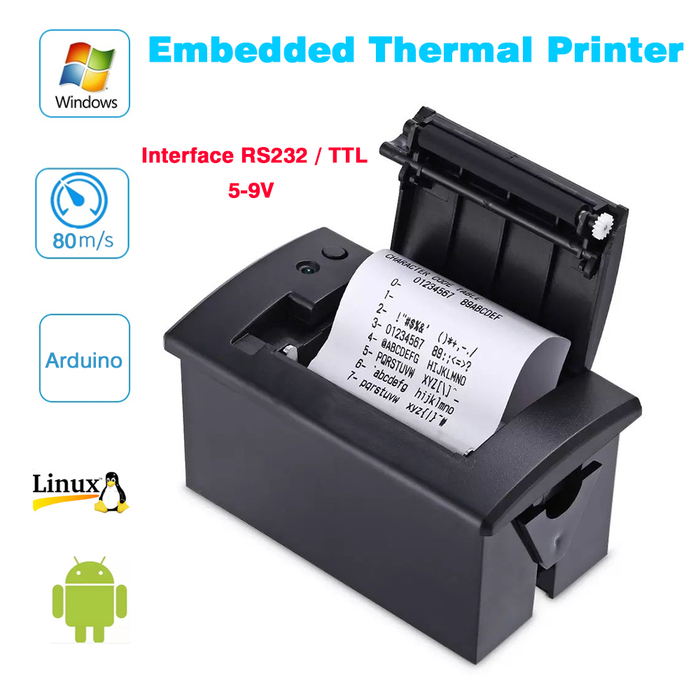 58 Mm Mini Thermische Parallel Pos Ontvangst Printer Ingebed Tickets Printer Interface RS232/Ttl Gebruik Met 5 V-9 V Voor Arduino Android title=