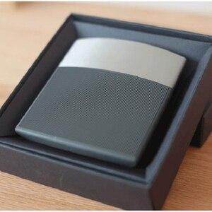 Business slim black cigarette case Case Box Pocket Scale Smoking Metal Automatic Cigarette Box 10 Cigarettes(China)