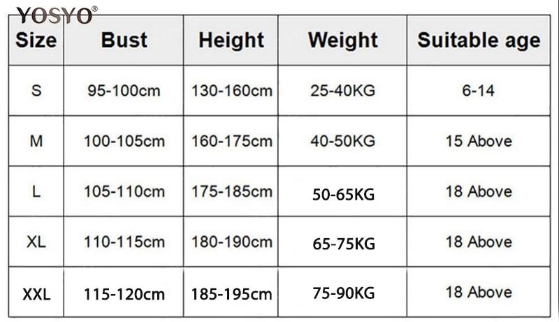 长背带尺码表