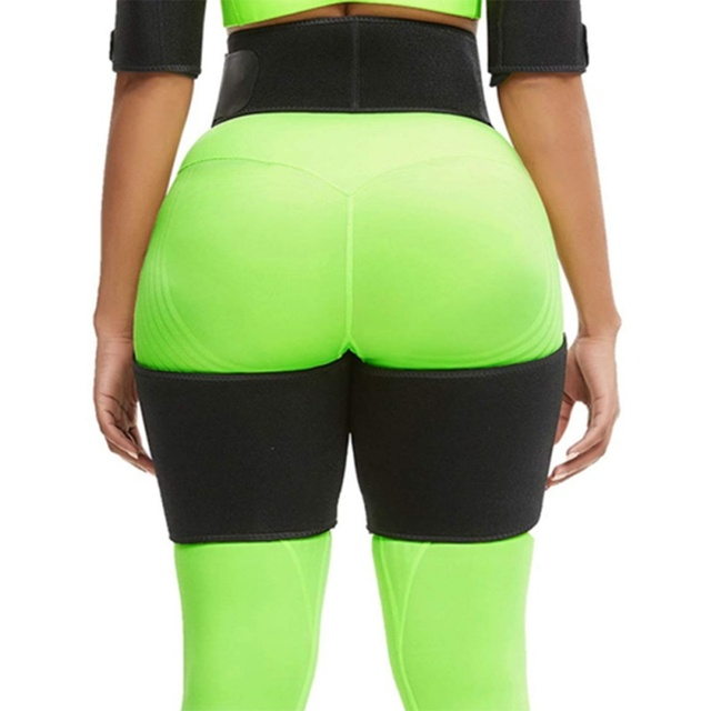 Slim Sweat Thigh Trimmer Leg Shapers Slender Slimming Belt Sweatband Shapewear Toned Muscles Band Thigh Slimmer Wrap 2
