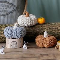 Nórdico simulação abóbora ornamentos criativo algodão mão-tecido ornamentos decoração de halloween