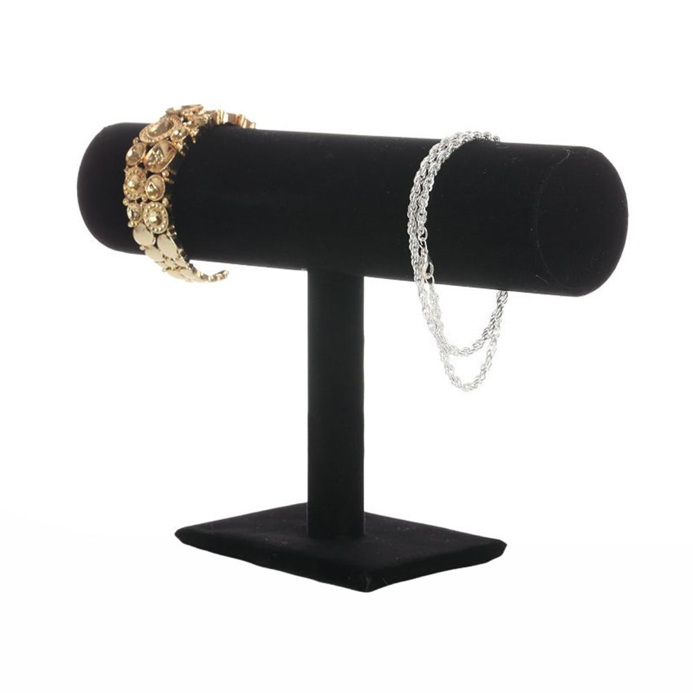 15x23cm Fashion Velvet Bracelet Bangle Necklace Jewelry Display Stand Holder Jewelry Organizer For Bracelet Choker T Shape elega