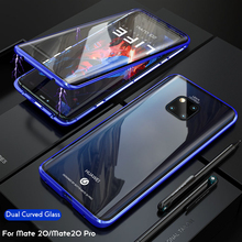 Mate 30 Pro Double-sided Tempered Glass Case For Huawei P30 Magnetic Metal Bumper Shockproof 20 Funda