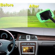 Car Cleaning Wiper Tool Care Glass Towel Auto Window Cleaner Windshield Windscreen Microfiber Car Wash Brush Dust Long Handle(China)