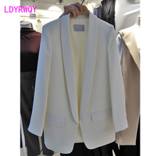 2019 new autumn casual Korean long sleeve ladies single blazer Hidden Breasted  Solid Regular Notched Pockets