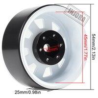 "INJORA Metal 1.9"" Beadlock Wheel Rims 3 Style for 1:10 RC Crawler Car Axial SCX10 90046 Traxxas TRX4 Redcat GEN8 6"