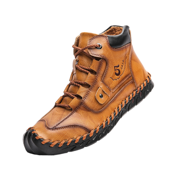 Autumn/Winter New Casual Shoes Leather Fashion Sneakers Handmade Breathing Boots Lightweight Loaders Moccasins Plus Size 38-48