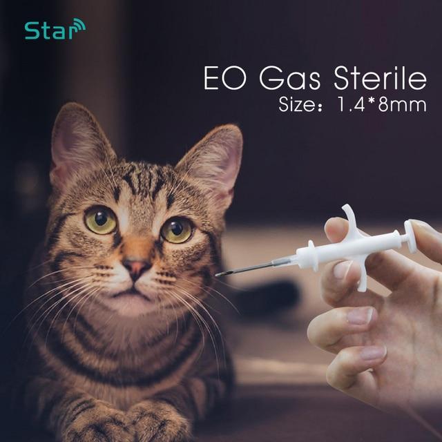 (60 adet) 1.4*8mm Hayvan Mikroçip RFID transponder Iso11784 fdx b 134.2khz LF kedi köpek künyeleri pet şırınga kedi vet barınak kullanımı