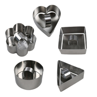 10 Pcs/Set Stainless Steel Cake Ring Square Dessert Mousse Mold with Pusher Lifter Cooking Rings Cake Utensils Cooking Tools|Waffle Molds| |  -