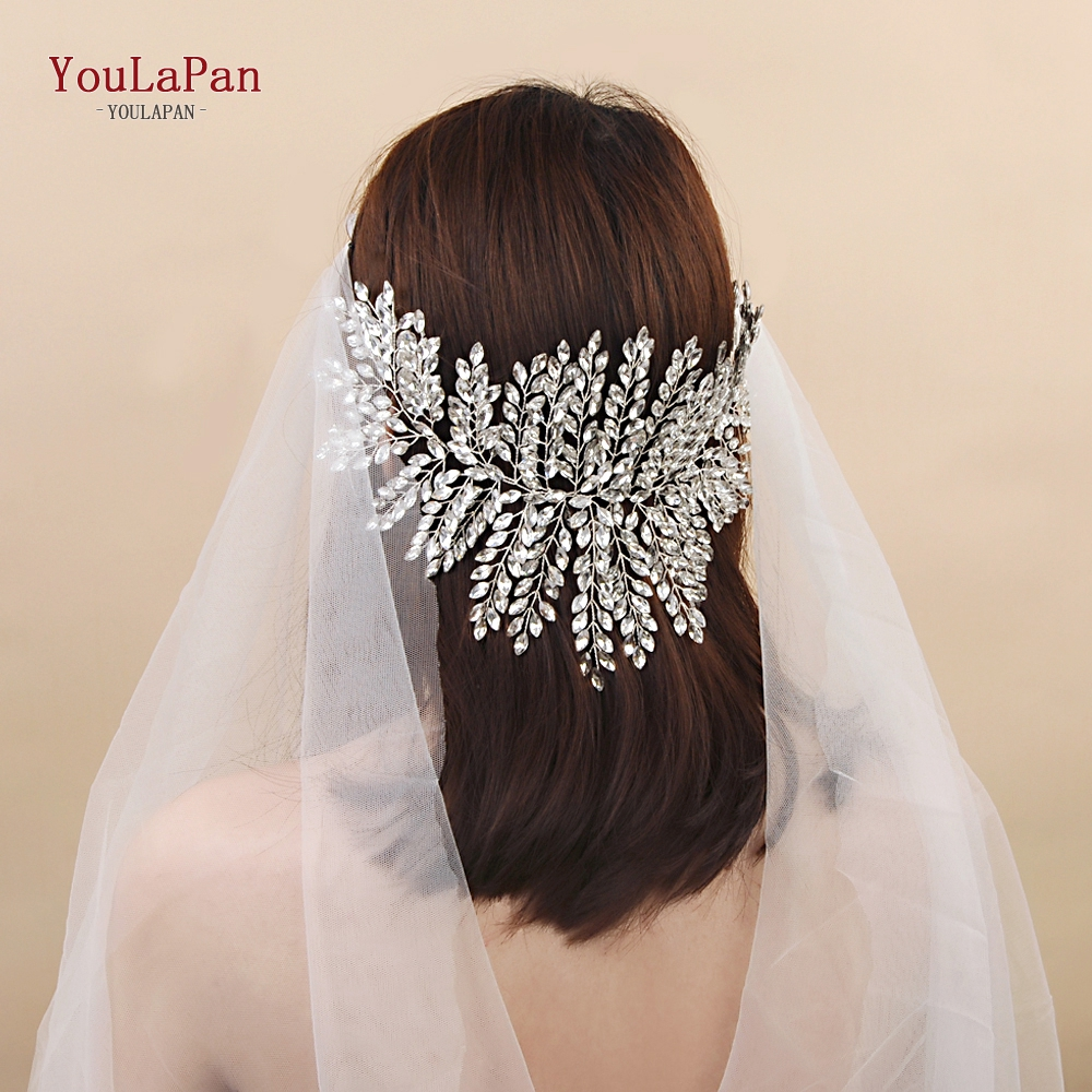 YouLaPan HP238 New Crystal Tiara Headband Luxury Bridal Hairbands Crown Full Rhinestone Wedding Hair Accessories Bride Tiara