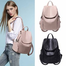 PU New Fashion Backpack Ladies Korean Wild Casual Soft Leather Large Capacity Backpacks Student College Style School Bags Bolsa