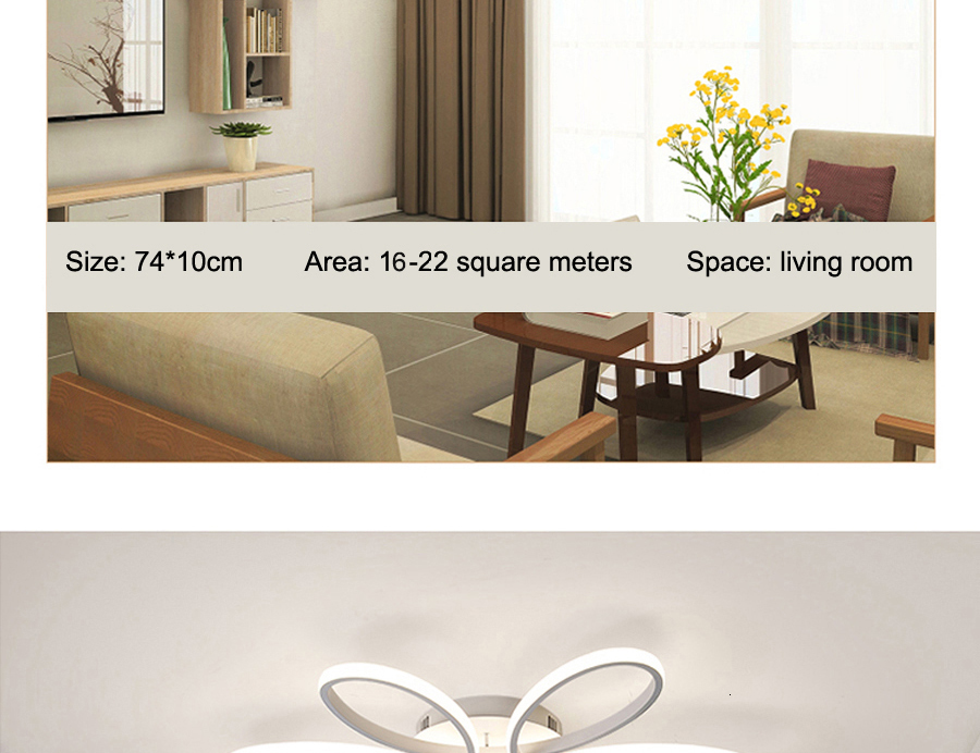 H681345473bbb403594178528923e6c500 Modern LED Ceiling Lights Remote control for Living room Bedroom 78W 72W 90W 120W Aluminum boby indoor plafond Lamp flush mount