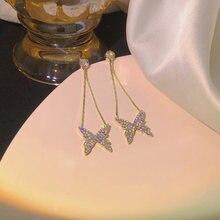 Yaologe серьги бабочки для женщин Подарки девушек очаровательные