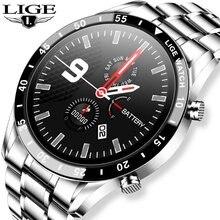 Lige Роскошные Смарт часы со стальным ремешком с bluetooth и