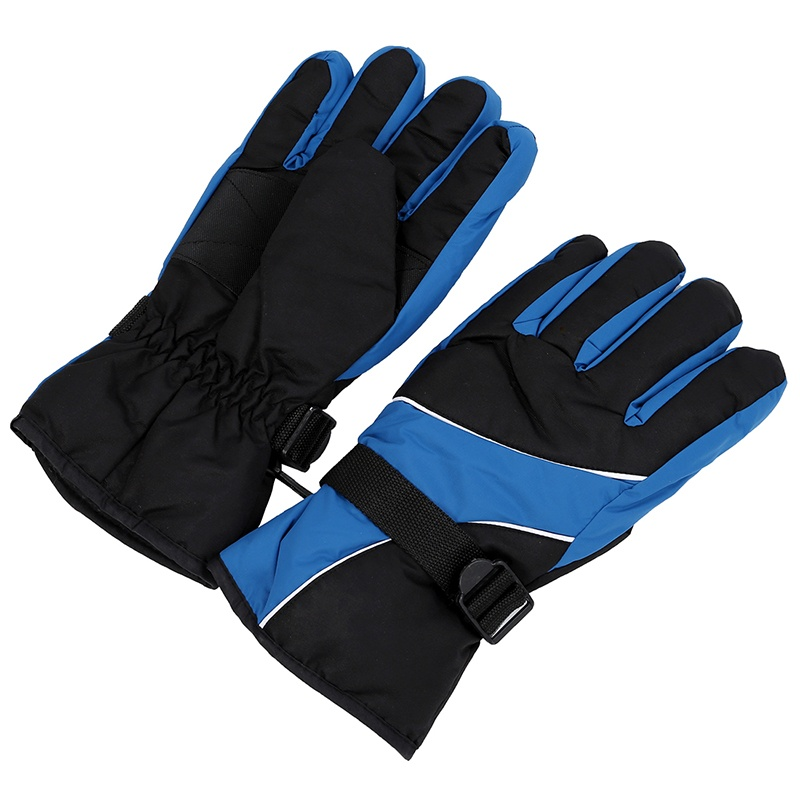 Men Ski Gloves Thermal Waterproof For Winter Outdoor Sports Snowboard (Sky Blue)