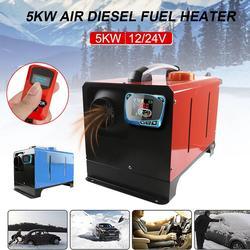 5KW 12 V/24 V samochód diesel powietrzna nagrzewnica postojowa niski poziom hałasu z pilotem Monitor LCD dla RV samochód kempingowy ciężarówka z przyczepą łodzie grzejnik