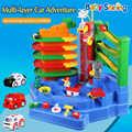 Детские блестящие детские Многослойные вагонетки, паровые игрушки, развивающая головоломка, игрушка, легкая музыка, электрическая игрушка,...