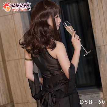 Game Girls Frontline DSR-50 Cosplay Costumes  Beauty Sexy Goddess Black Formal Dress Female Cocktail Party Clothing S-XL