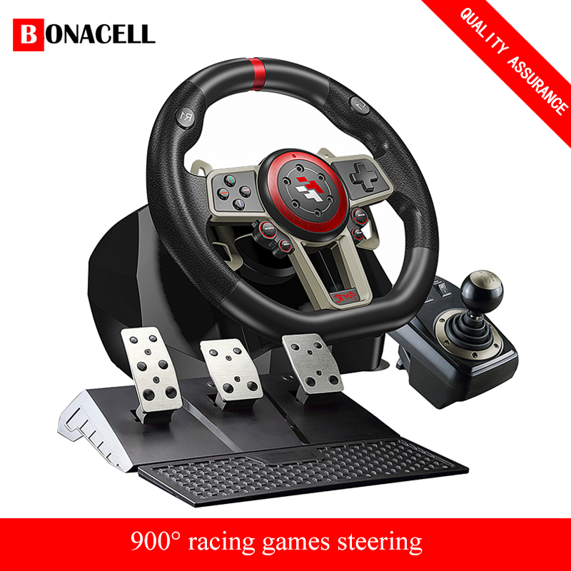 2021 Gamepad Controller Gaming Steering Wheel 900° Racing Video Game Vibration For PC/PS3/PS4/Xbox-One/Xbox 360/N-Switc 1