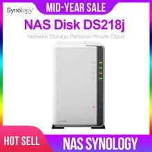 Synology NAS дисковая станция DS218j 2-отсек бездисковый nas сервер nfs Сетевое хранилище Облачное Хранилище 2 года гарантии