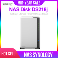 Synology Original NAS Disk Station DS218j 2 bay Diskless nas Server nfs Network Storage Cloud storage 2 Years Warranty