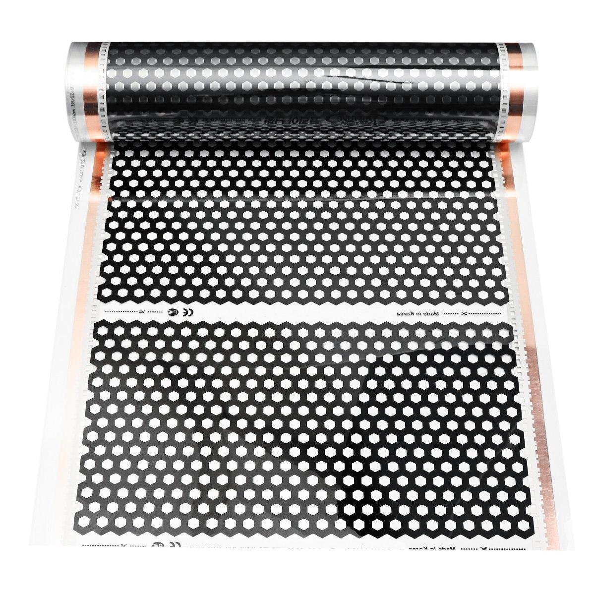 50CM*2M Infrared Warm Floor Heating Film 220w Electric High Quality Carbon Fiber Electric Heating Mat Underfloor Heating Film