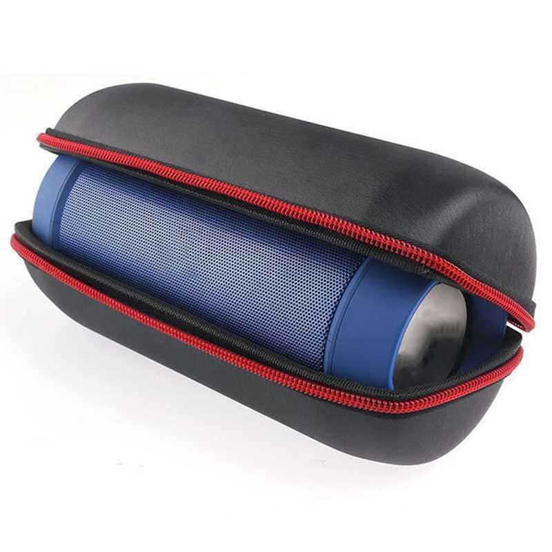 Przenośny czarny Pu torba podróżna pokrowiec etui torba do ładowania 2/2 + bezprzewodowy głośnik bluetooth pudełko do przechowywania (bez kolumna)