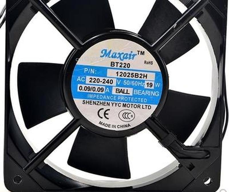 For BT220 P/N 12025B2H 220~240V 19W 12025 Dual Ball Cooling Fan Free Shipping