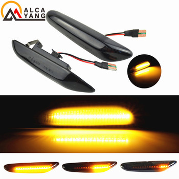 Sequential Flashing LED Turn Signal Side Marker Light For BMW E60 E61 E90 E91 E87 E81 E83 E84 E88 E92 E93 E82 E46 1 3 5 series image
