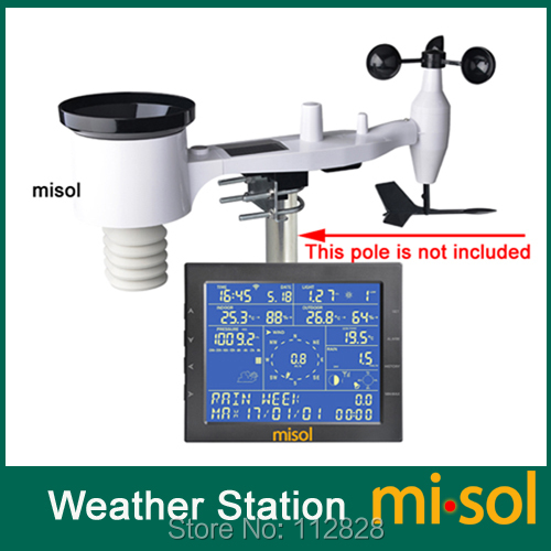 MISOL / Wireless weather station connettersi al WiFi, caricare dati sul web (wunderground)