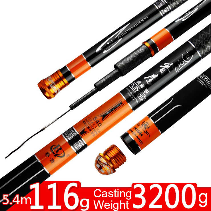Fishing rod borgol karbon tinggi rod Ultra ringan super keras memancing rod 28 tuning Taiwan fishing rod