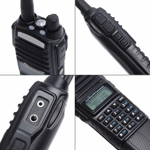 Image 3 - Baofeng UV 82 Plus Walkie Talkie 8W Powerful 3800 mAh Battery DC Connector UV82 Dual PTT Band two way radio 771 tactical Antenna
