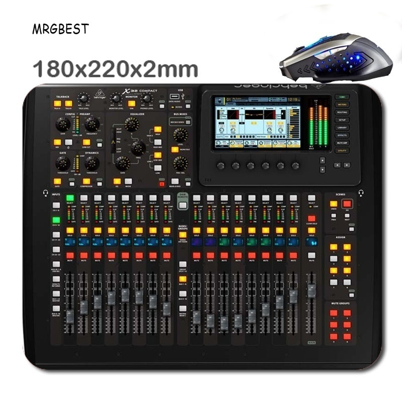 MRGBEST 220 *180  *2mm  Mixing Console HD Customized Rectangle Non-Slip Rubber Fast Printing Gaming Durable Notebook Mouse Pad