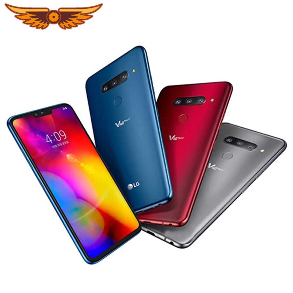 V405EBW Original LG V40 ThinQ 6.4 Inches 6GB RAM 128GB ROM 16MP Triple Camera LTE Dual SIM Fingerprint Unlocked Cellphone|Cellphones| - AliExpress