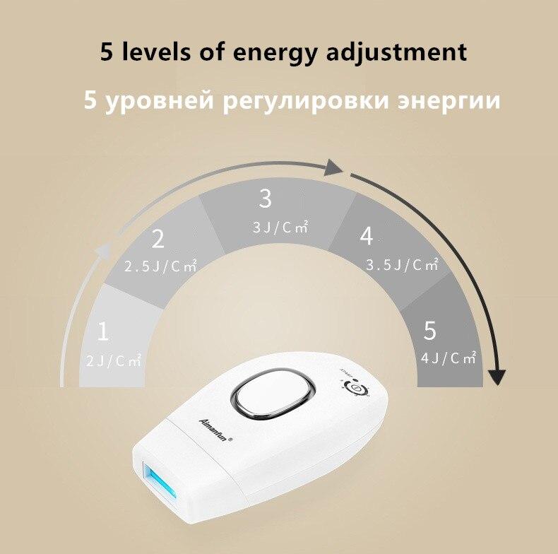 100-240 v casa segure depilatório laser mini