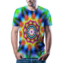 Летняя Новинка 2020 Повседневная футболка с абстрактным визуальным