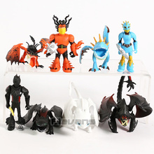 How To Train Your Dragon The Hidden World Toothless Night Fury Mini PVC Figures Toys Dolls Set