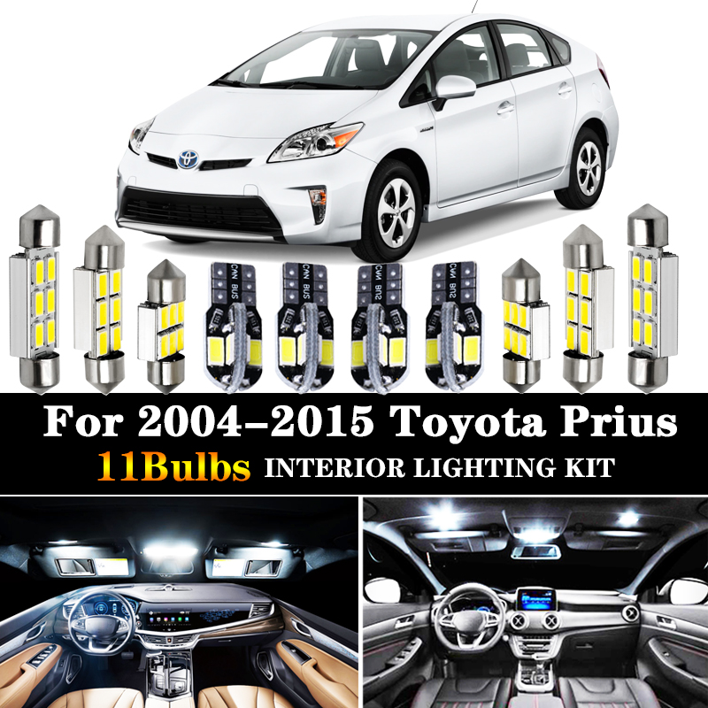 12x Blue Interior LED Lights Package Kit Fits 2004-2015 Toyota Prius