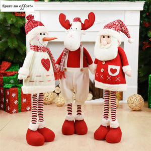 75cm Retractable Christmas Santa Claus Snowman Dolls xmas Figurine Christmas Decorations for Home New Year adornos de navidad