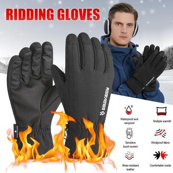 Ski Gloves Riding Glove Waterproof Durable Mobile Phone Bicycle Keep Warm Gloves Skiing Winter Motorcycle Supplies image