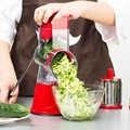Rvs Groentensnijder Multi Manual Ronde Slicer Fruit Cutter Aardappel Versnipperen Rasp Keuken Accessoires Koken MM60GS
