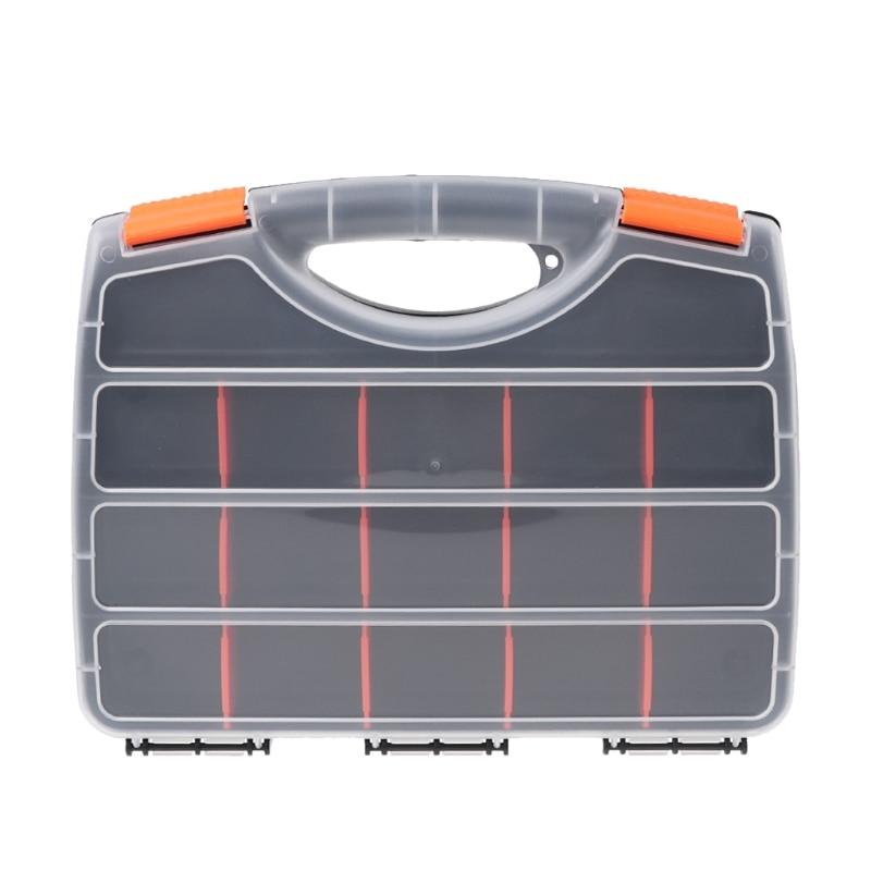 Plastic Hand Tool Storage Case Spanner Screwdriver Parts Hardware Organizer Box