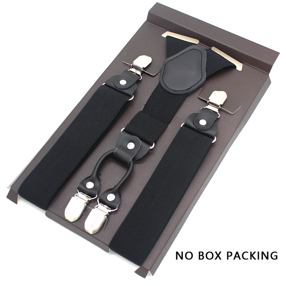 Fashion Suspenders Leather Alloy 4 Clips Braces Male Unisex Vintage Casual Leather Suspensorio Trousers Strap Husband's Gift