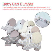 6Pcs/Lot Baby Bed Bumper Cotton Soft Elephant Bumper Baby Bed Protector Newborns Backrest Cushion Bed Bedding Set(China)