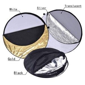 Image 5 - 5 in 1 การถ่ายภาพสะท้อน Reflectors สำหรับถ่ายภาพสะท้อนแสงพับได้โปร่งแสง,เงิน,ทอง, สีขาว,สีดำ
