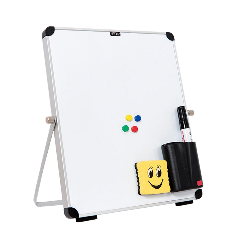 Small Desktop Dry Erase Board Portable Small Magnetic Double Sided Whiteboard Easel For Kids To Do List White Board For Home Off