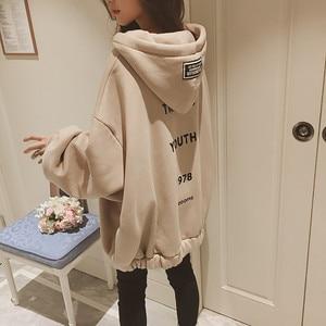 Women's Sweatshirt Loose Hoodies Women Plus Size Hoodies Pullover With Full Zip Thickening Plus Velvet Harajuku Sweatshirt Coats