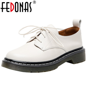 FEDONAS New Women Pumps Fashion Cross-Tied Sqaure Heeled Genuine Leather Shoes Woman Round Toe Butterfly Knot Shoes Woman